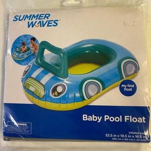 """SUMMER WAVES BABY POOL FLOAT 32.5 X 19.5 X 16.5"""""""